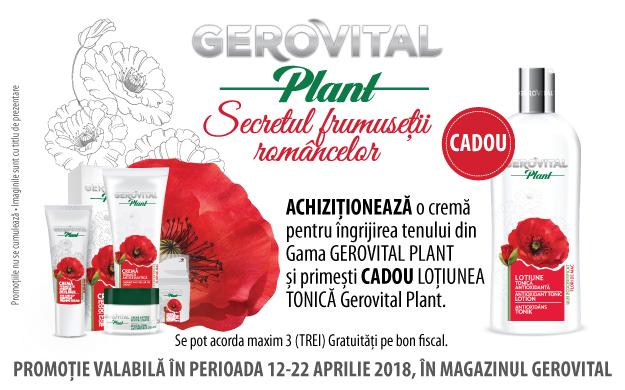 Lotiune tonica Gerovital Plant - CADOU la Gerovital!