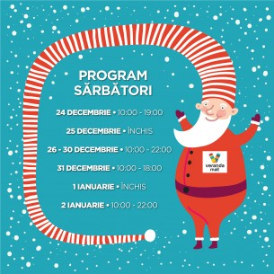 PROGRAM DE SARBATORI VERANDA MALL