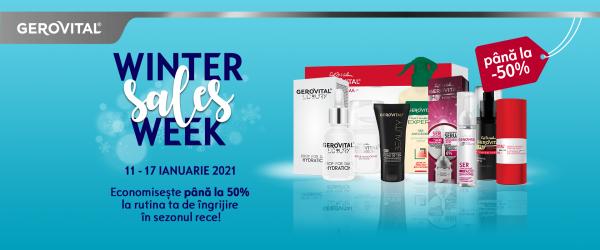 Winter Sales Week la Gerovital